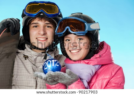 Snowboarding is useful for young - stock photo