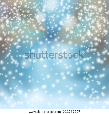 Snowfall in the City. Raster version. - stock photo