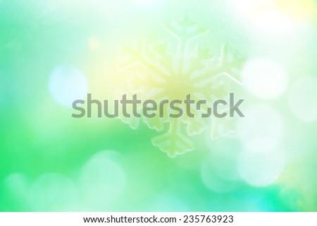 Snowflake big close up. Bokeh a background. - stock photo