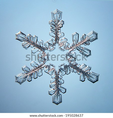 snowflake crystal natural - stock photo