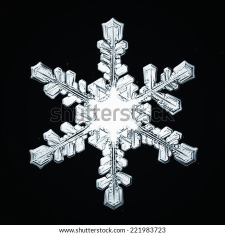 snowflake crystal natural - stock photo