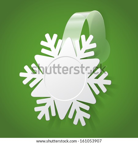 Snowflake wobbler isolated on a green background - stock photo