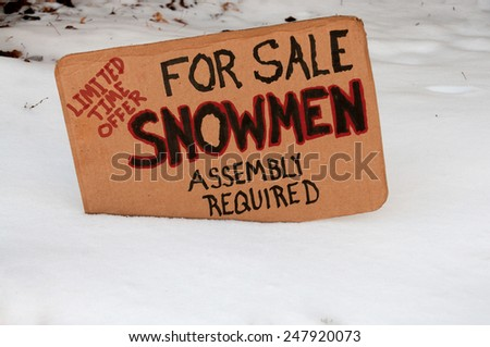 Snowman for sale assembly required limited time offer - stock photo