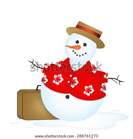 Snowman Vacation - stock photo