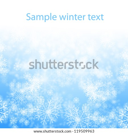 snows on blue background - stock photo