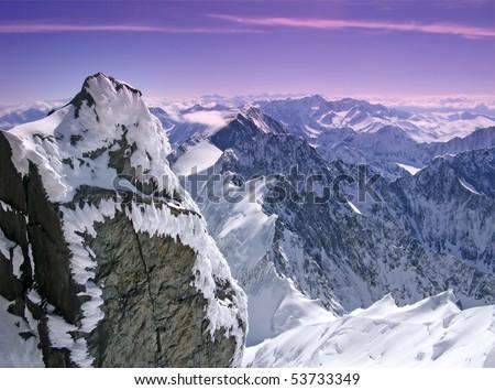 snowy Alps - stock photo
