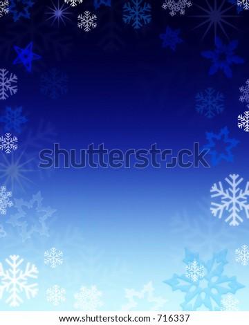 snowy background - stock photo
