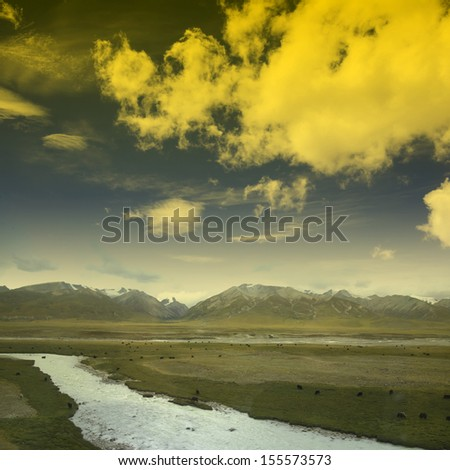 Snowy River - stock photo