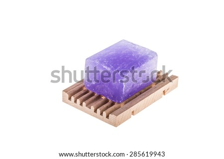 soap bar on white - stock photo