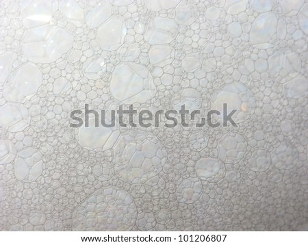 Soap bubble texture for background use - stock photo