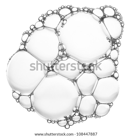 Soap bubbles texture, abstract background - stock photo