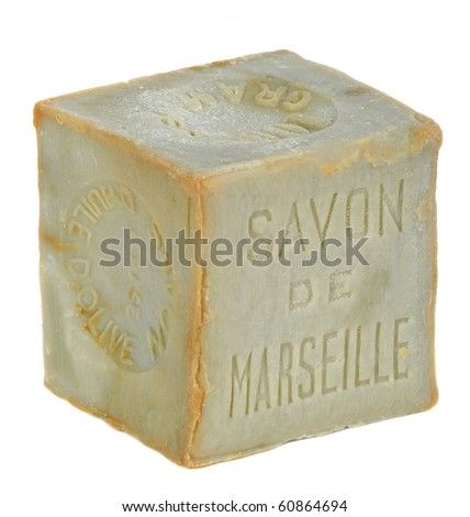 Soap of Marseille isolated - stock photo