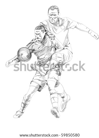 Soccer action. - stock photo