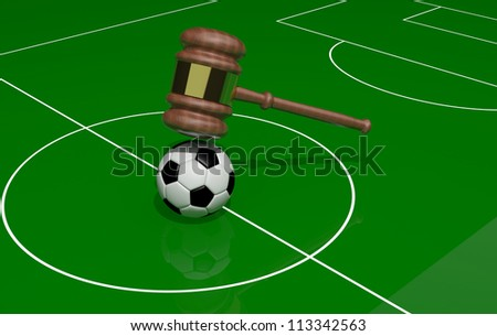 Soccer and justice - stock photo