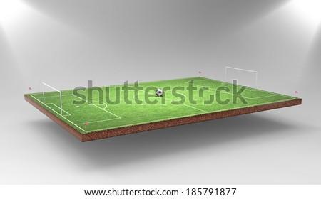 Soccer backround - stock photo