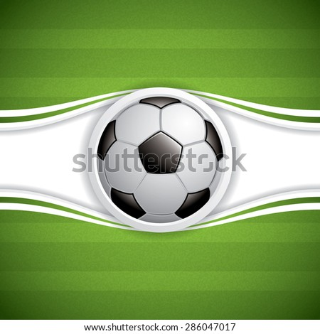 Soccer ball brochure - stock photo