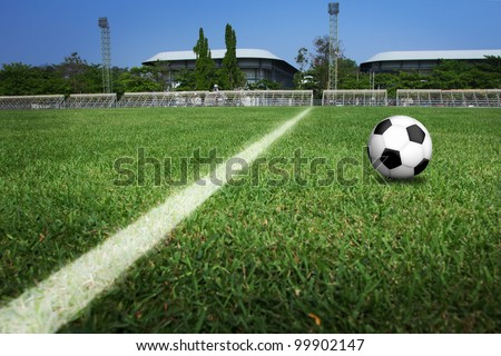 soccer ball field. - stock photo