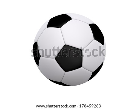 Soccer ball / Football isolated on a white background. - stock photo