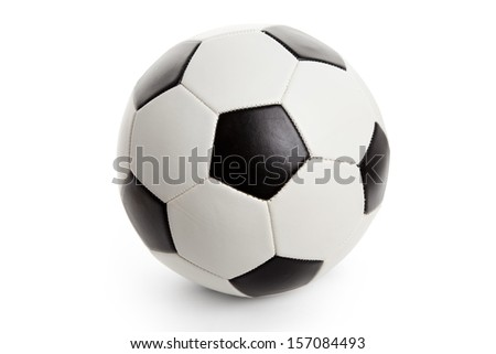 Soccer Ball, football Isolated on White Background  - stock photo