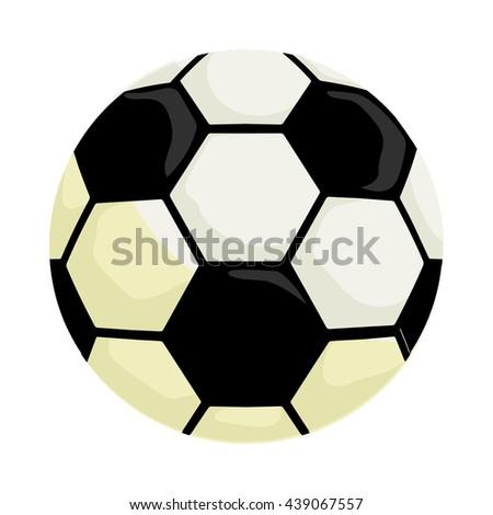 Soccer ball icon, cartoon style - stock photo
