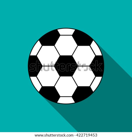 Soccer ball icon in flat style  - stock photo