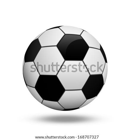 Soccer ball illustration - stock photo