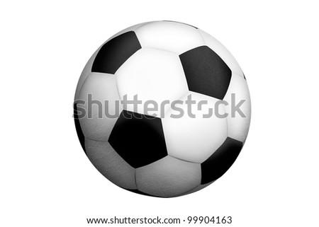soccer ball isolated. - stock photo