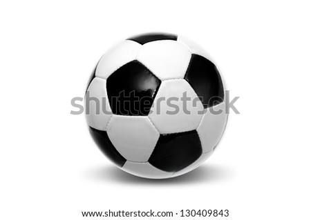 Soccer ball  isolated in white - stock photo