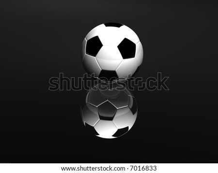 Soccer ball isolated on Black - stock photo