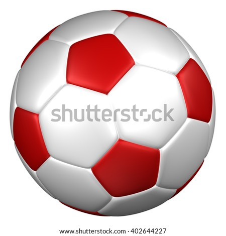 Soccer ball, isolated on white background. 3D rendering. - stock photo