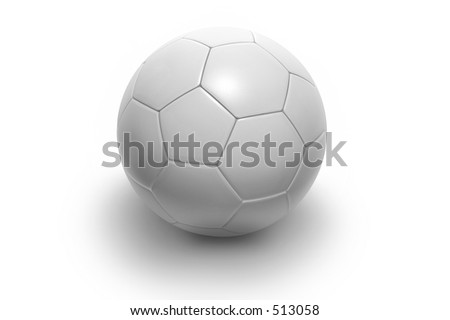 Soccer ball isolated on white background. Photorealistic 3D rendering. (all white, see portfolio for more colors) - stock photo