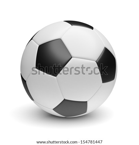 soccer ball on a white background - stock photo