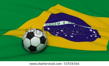 soccer ball on country flag - stock photo