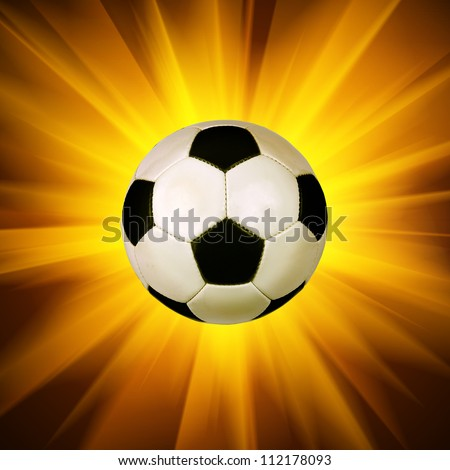 soccer ball on the light background - stock photo