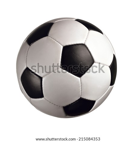 soccer ball soccer ball without logos isolated on white background  - stock photo