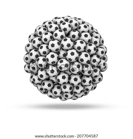 Soccer ball sphere - stock photo