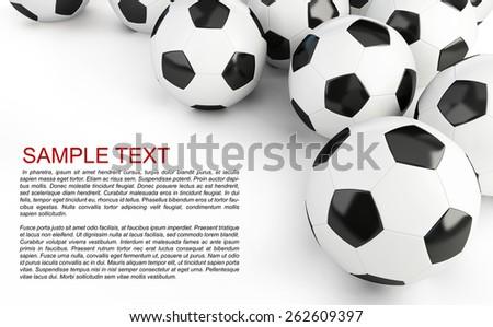 Soccer balls background  - stock photo