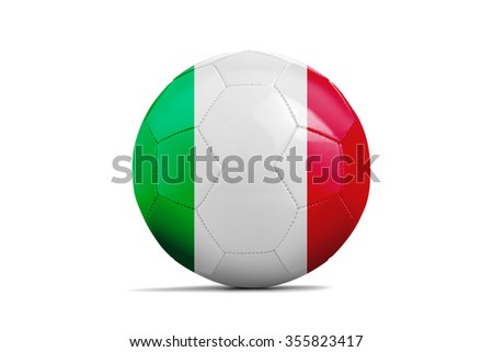 Soccer balls with team flags, Football Euro 2016. Group E, Italy- clipping path - stock photo