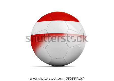 Soccer balls with team flags, Football Euro 2016. Group F, Austria- clipping path - stock photo