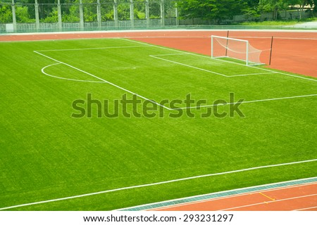 soccer field grass - stock photo