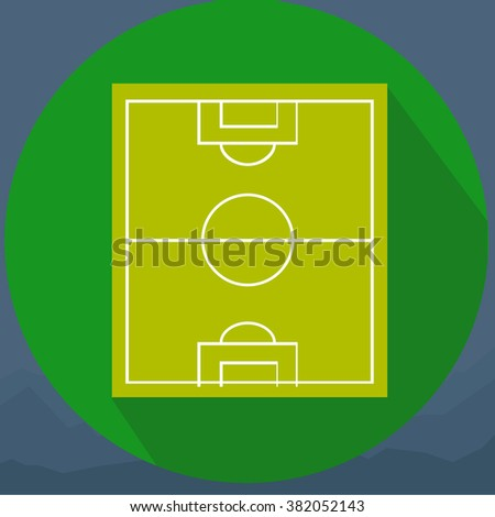 soccer field or football field - stock photo