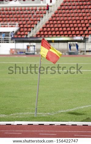 Soccer filed. Football field - stock photo