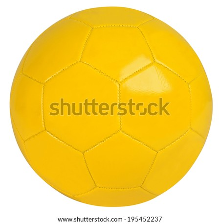 Soccer football isolated against white background. - stock photo