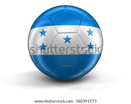 Soccer football with Honduras flag. Image with clipping path - stock photo