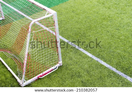 Soccer Goal with soccer field  - stock photo