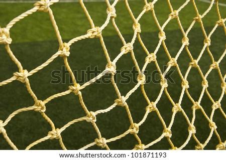 Soccer net background - stock photo