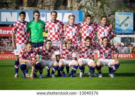 soccer or football (croatian football selection) - stock photo
