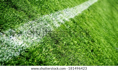 Soccer or football field - stock photo