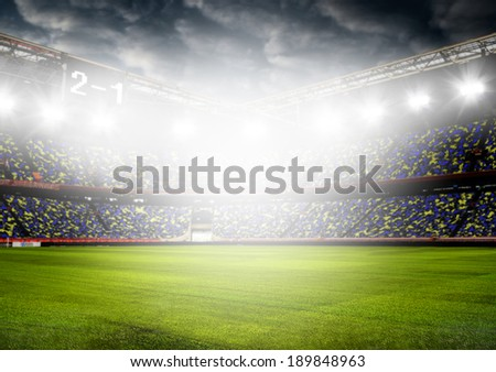 soccer or football stadium background - stock photo