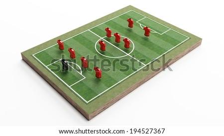 Soccer plan concept - stock photo